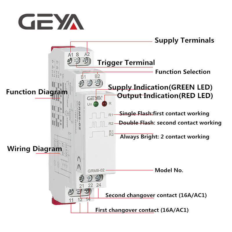 Geya Din Rail Latching Relay 220v Impulse Relay Dc12v 24v 16a Electronic Relay220v With Ce Cb Certificate