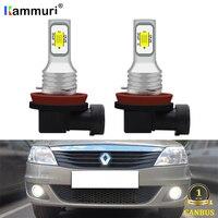 KAMMURI H11 H8 светодиодный автомобильный противотуманный фонарь для Renault Reno Logan 2 Laguna Duster trafc Megane Captur PSX24W светодиодный противотуманный светильник ...