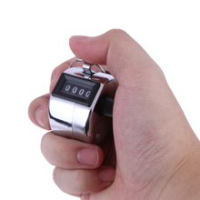4 Digital Hand Tally Counter Manual Counting Golf Clicker Metal Digital Hand Tally Counter Tally Click Training Counter