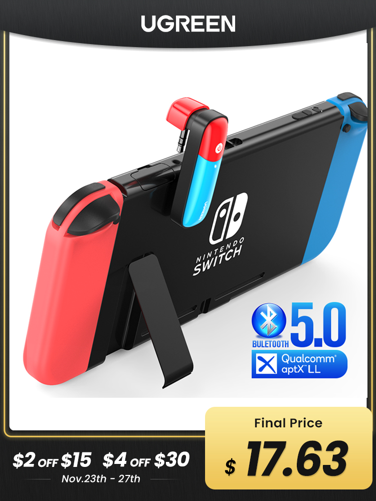 Transmitter-Adapter Ugreen-Switch Audio Aptx Ll Bluetooth 5.0 for Nintendo