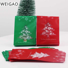 40pcs Christmas Gift Box Kids New Year Favors Plastic Tree Bags Xmas Party Navidad Decoration For Home Candy