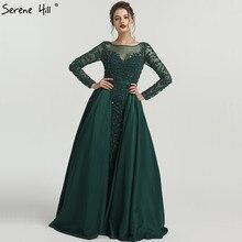 2019 섹시한 긴 소매 핑크 댄스 파티 드레스 크리스탈 페르시 긴 이슬람 댄스 파티 드레스 파티 드레스 dla6172