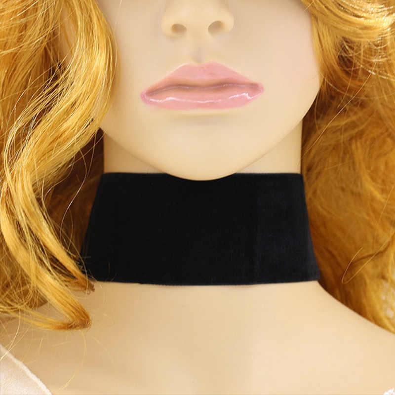 Zyzq Fashion Wanita Kain Chokers Kalung Korea Stylish Aksesoris Keren Hitam Kalung Grosir Banyak dan Massal Hot Menjual Permata