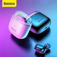 Baseus A03 الأعمال بلوتوث سماعة صغيرة المحمولة واحدة TWS اللاسلكية سماعة مع هيئة التصنيع العسكري ل شاومي آيفون سيارة القيادة