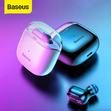 Baseus a03 negócios bluetooth fone de ouvido mini portátil único tws sem fio fone com microfone para xiaomi iphone carro condução