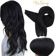 VeSunny Human Hair Weft Extensions Black Sew in Hair Weaves Thick Double Weft 100% Remy
