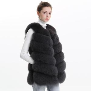Image 5 - Autumn Winter Women Real Fox Fur Vest Female Genuine Fox Fur Coat Leather Jacket Warm Lady Gilet Natural Fox Fur Waistcoat