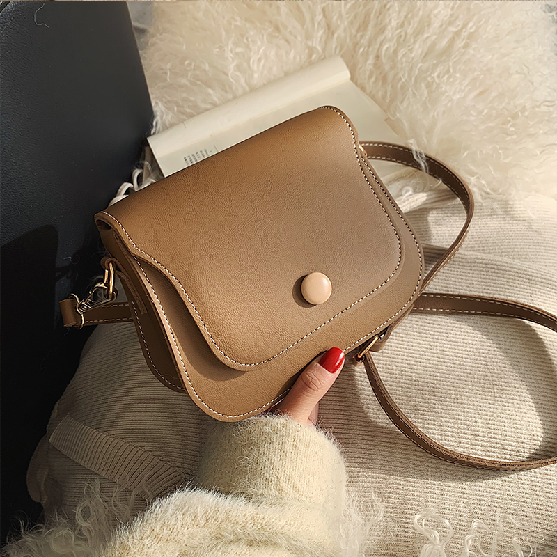 Solid Color Square Crossbody Bag 2020 Fashion New High Quality PU Leather Women's Designer Handbag Casual Shoulder Messenger Bag