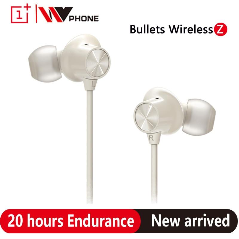 Oneplus Bullets Wireless Z Bluetooth Earphones Atpx Dynamic Magnetic Control For Oneplus 8 Pro Original Earphone