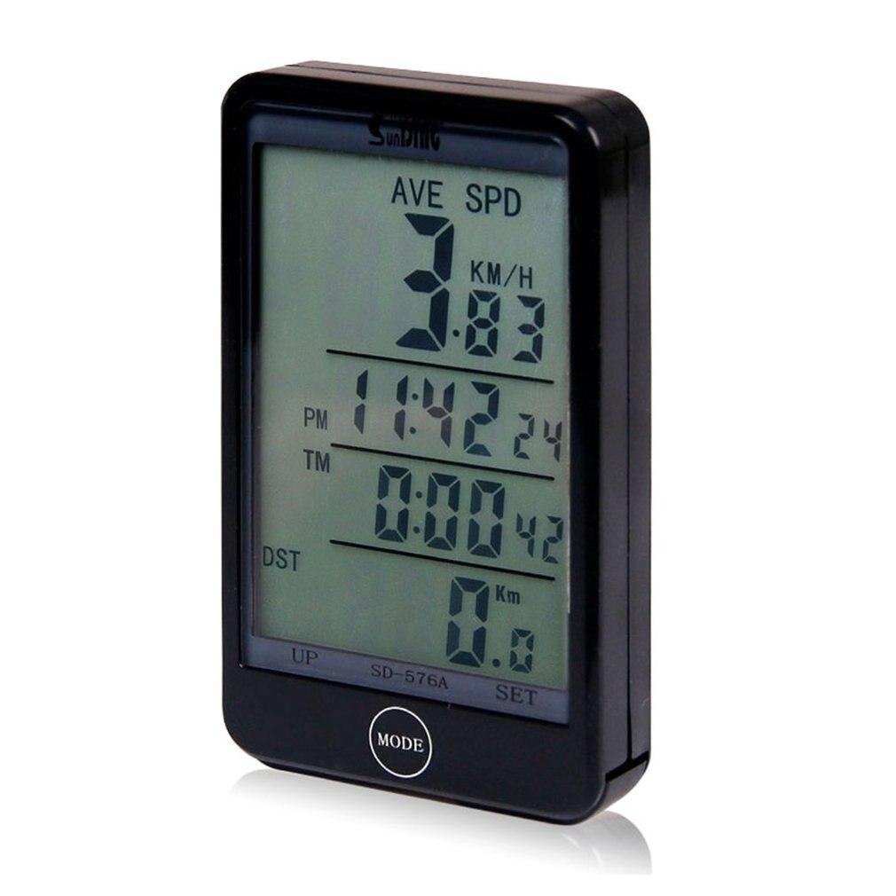 LCD Digital Cycle Bike Computer Bicycle Speedometer Odometer English Type