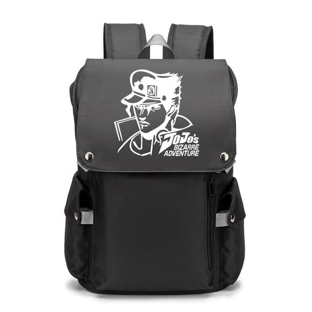 JoJo's Bizarre Adventure Kujo Jotaro Backpack School Bags for Teenage USB Charging Laptop Backpack Bookbag Travel Mochilas 4