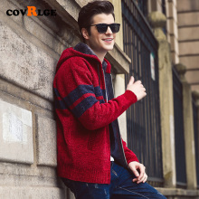Men New Casual Cardigan Sweater 2019 Autumn Winter Zipper Fashion Striped Pocket Knit Outwear Coat MWK011