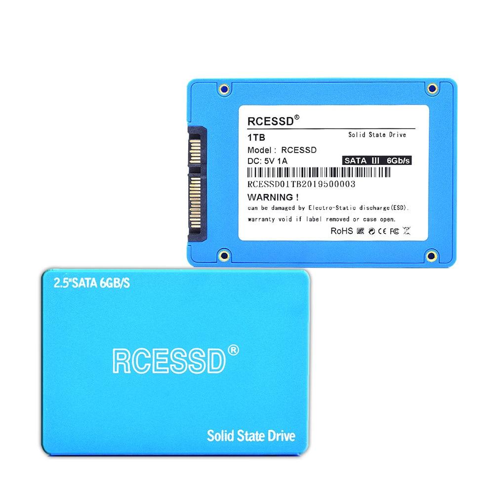 RCESSD Plastic 2.5 Inch SATA SSD 128GB 256GB 512GB 1TB SSD 1TB Internal Solid State Disk 2.5 SSD SATA For Desktop Laptop