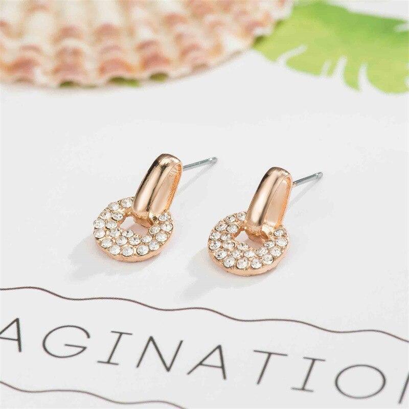 Hello Miss Disc copper money earrings geometric circle earrings fashion women 39 s earrings jewelry in Stud Earrings from Jewelry amp Accessories