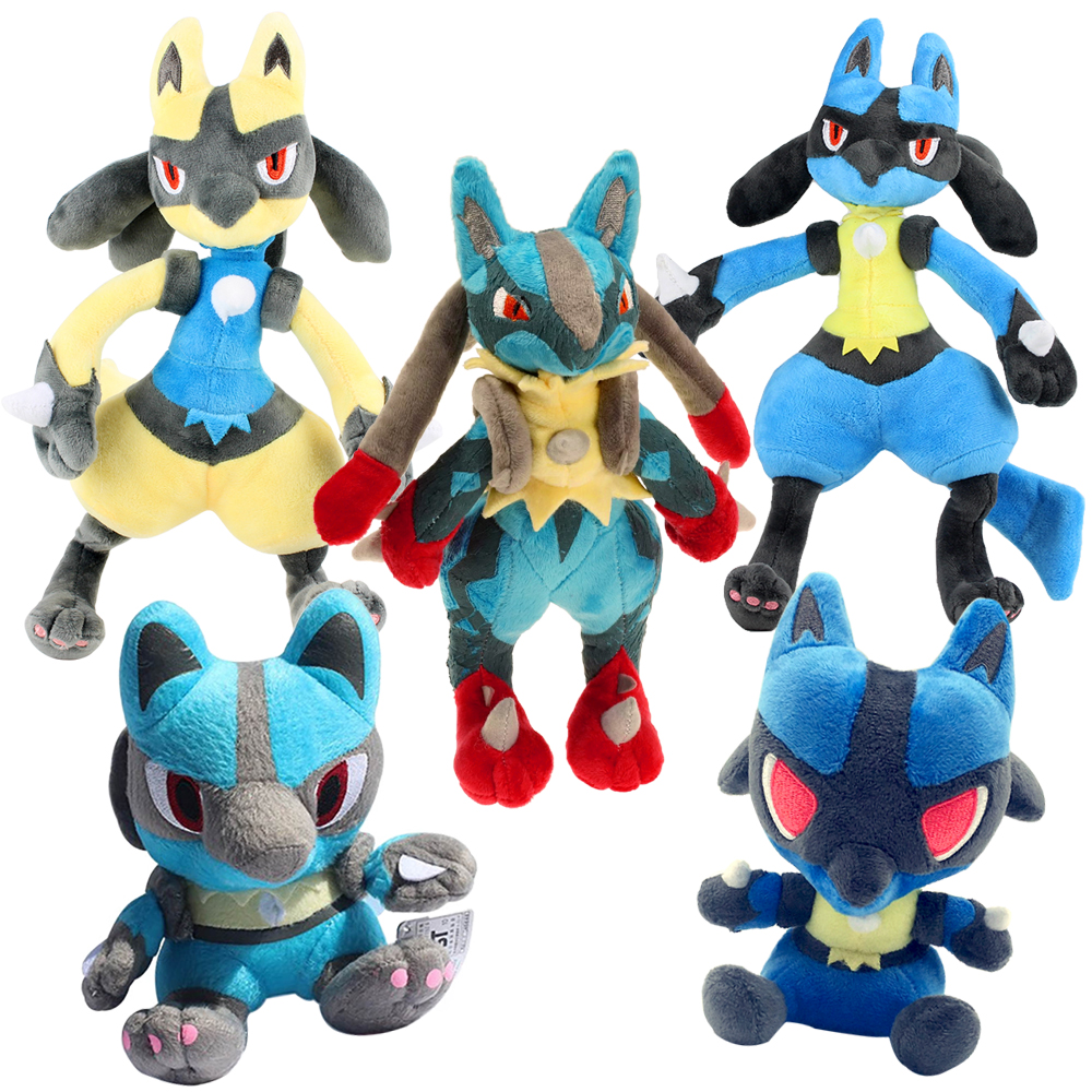 32cm 5Colors Lucario Plush Doll Toys Cotton Cute Mega Lucario X&Y Soft Stuffed Animal Peluche Toy Gift For Children