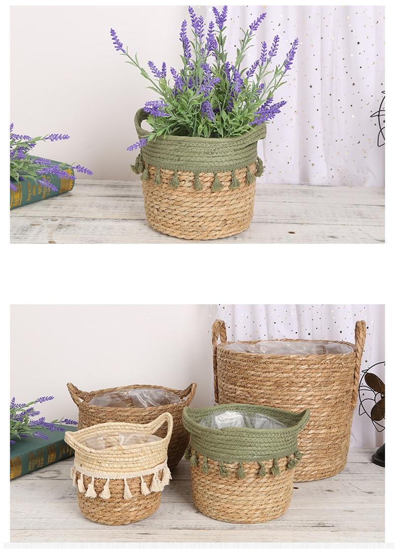 cesta flor plantador cestas armazenamento
