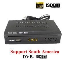 2020 남미 IKS ISDB T USB 리셉터 HD TV 터너 H.264 디지털 지상파 전체 1080P ISDB T Descodificador Satelite