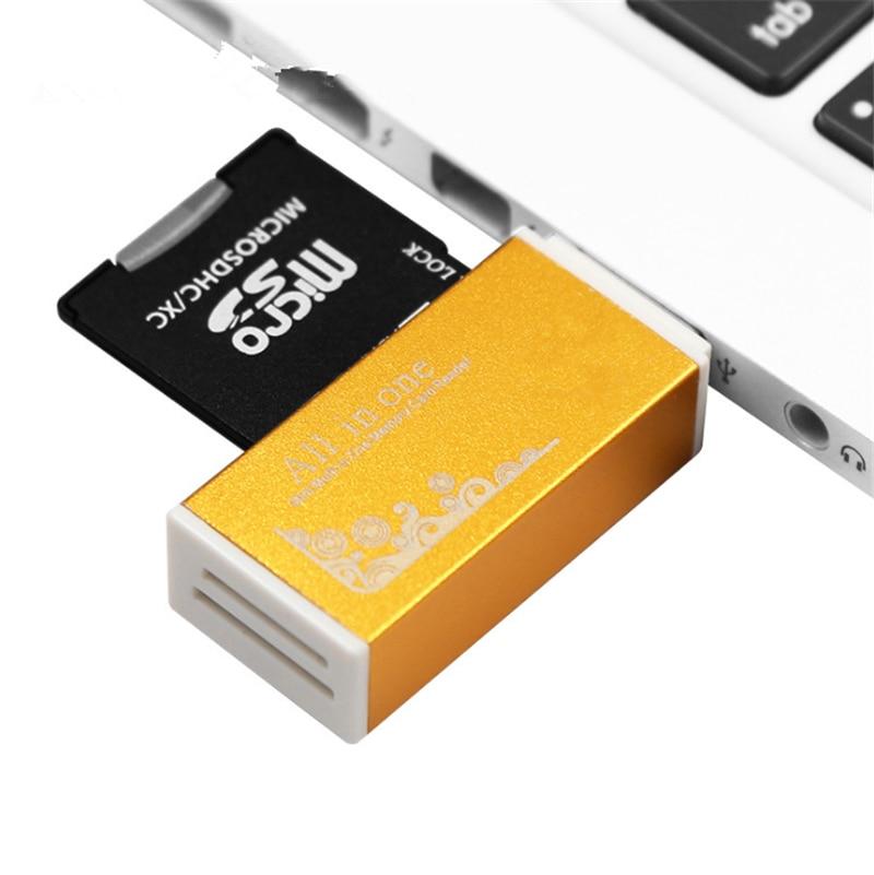 متعددة في 1 قارئ بطاقة ذاكرة SD للذاكرة عصا الموالية الثنائي مايكرو SD ، TF ، M2 ، MMC ، SDHC MS قارئ بطاقات مجموعة متنوعة من الألوان