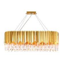 Хрустальная лампа для гостиной люстра скандинавский светильник