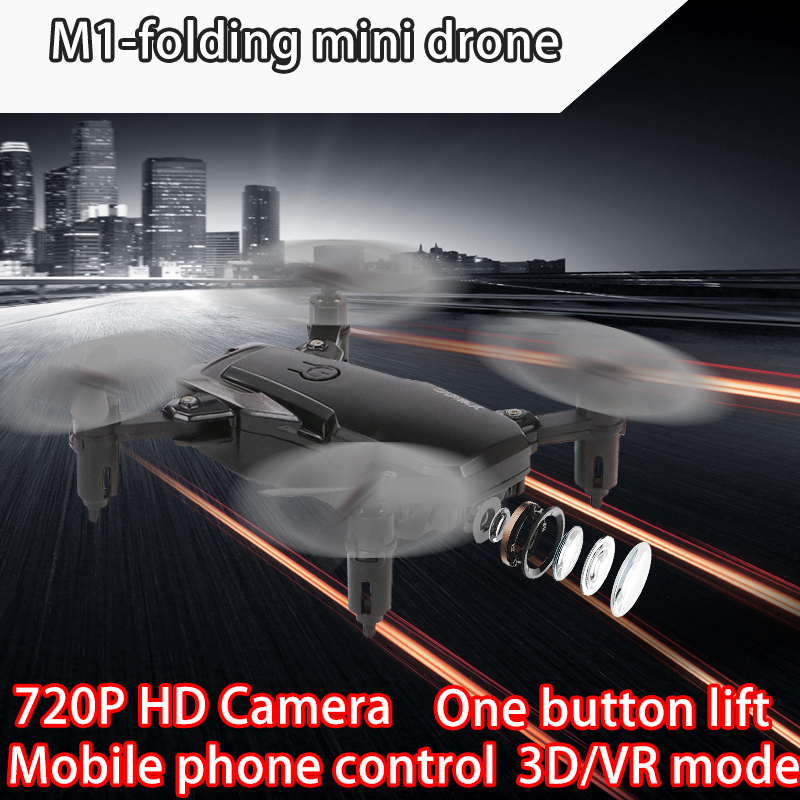 M1 Mini Drone With Camera Hd Wifi 1080P FPV Foldable Quadcopter Rc Helicopter Quadrocopter Toys Drones Kid's Toys