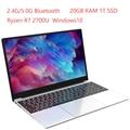 Ультрабук металлический с 2,4G/5,0G Bluetooth Ryzen R7 2700U windows10 Pro металлический портативный игровой ноутбук H7, ОЗУ 20 ГБ 1 ТБ SSD