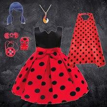 2021 nouveau carnaval chat Noir Halloween Cosplay Costume princesse fille robe Tutu fête de mariage rouge Bug Dot vêtements pour enfants robes