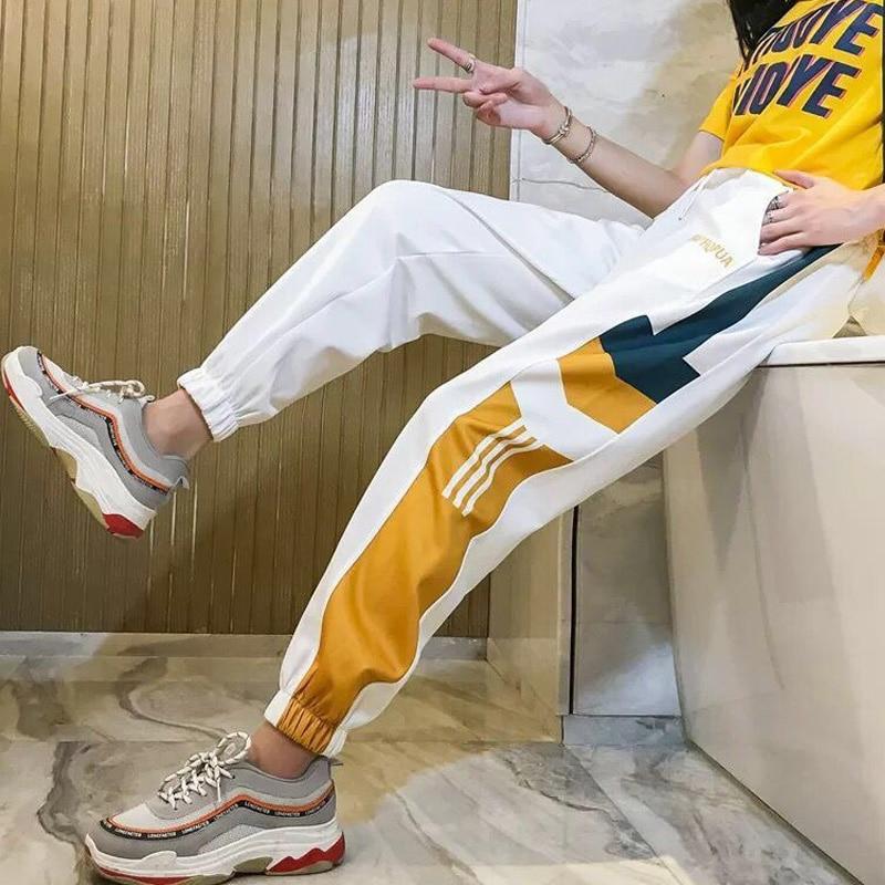 Summer Spring Harem Pants For Women High Waist Loose Hip Hop Elastic Waist Pans Casual Gym Harajuku Pants Funny Trouser Girl