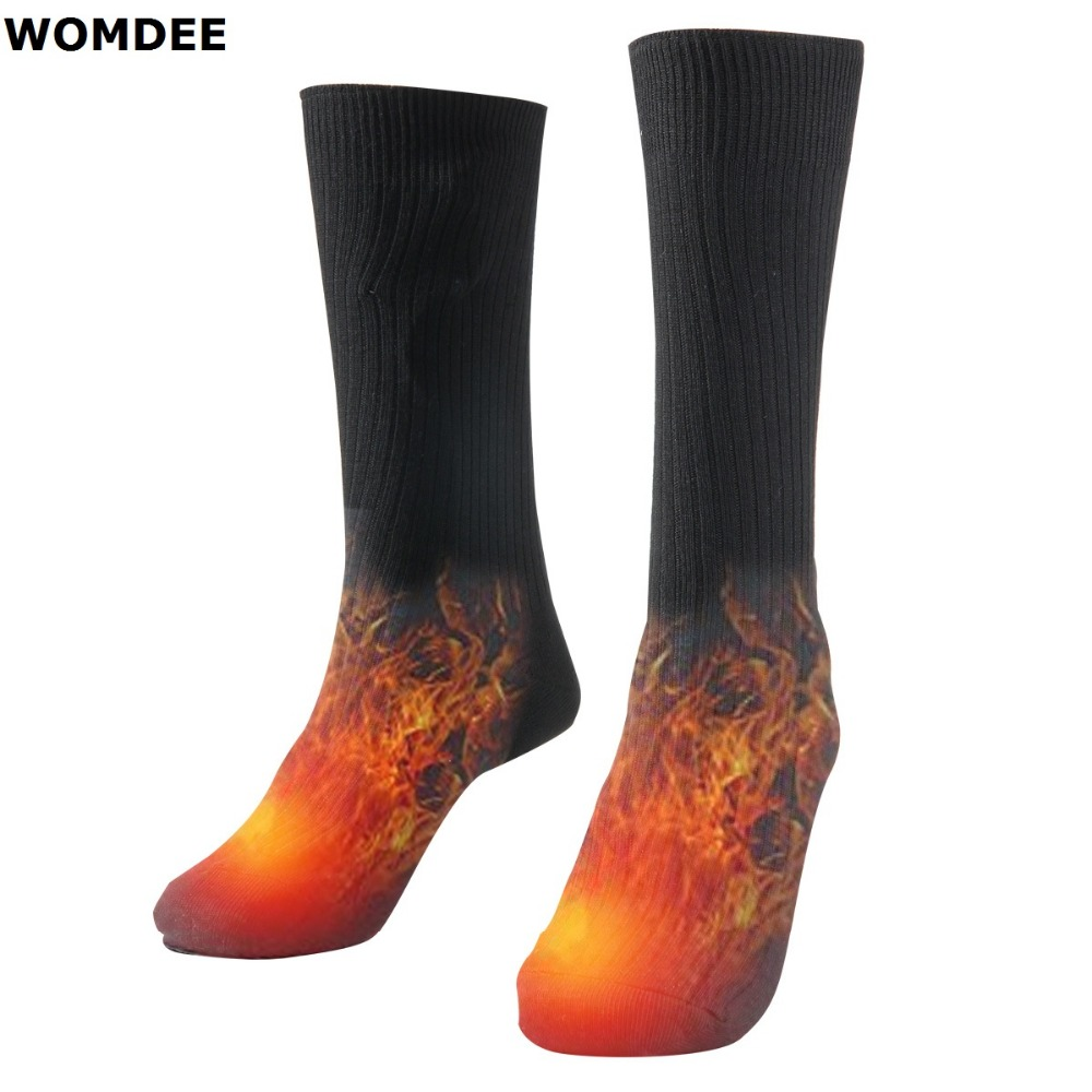 Winter Electric Thermosocks Battery Heating Warmer Socks Women Men Outdoor Foot Warm Socks For Diabetics Skiing Hunting Waders