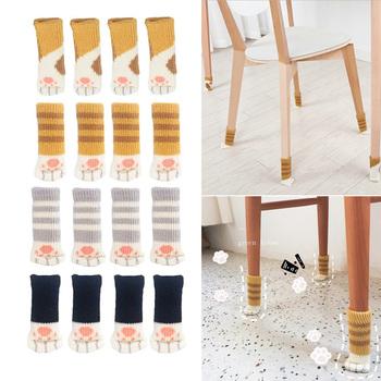 4 sztuk noga od krzesła skarpetki wysokie elastyczne ochraniacze podłogowe antypoślizgowe noga od krzesła stopy skarpetki obejmuje słodki kociak łapy wzory noga od krzesła skarpetki tanie i dobre opinie CN (pochodzenie) Wool Meble nogi CLCH37 Chair Chair Leg Socks Anti-slip Table Legs Furniture Feet Sleeve Cover 11*3cm