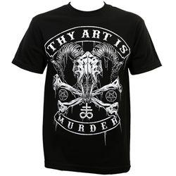Camiseta crânio authentic thy arte é assassinato baphomet preto s m l xl 2xl 3xl novo