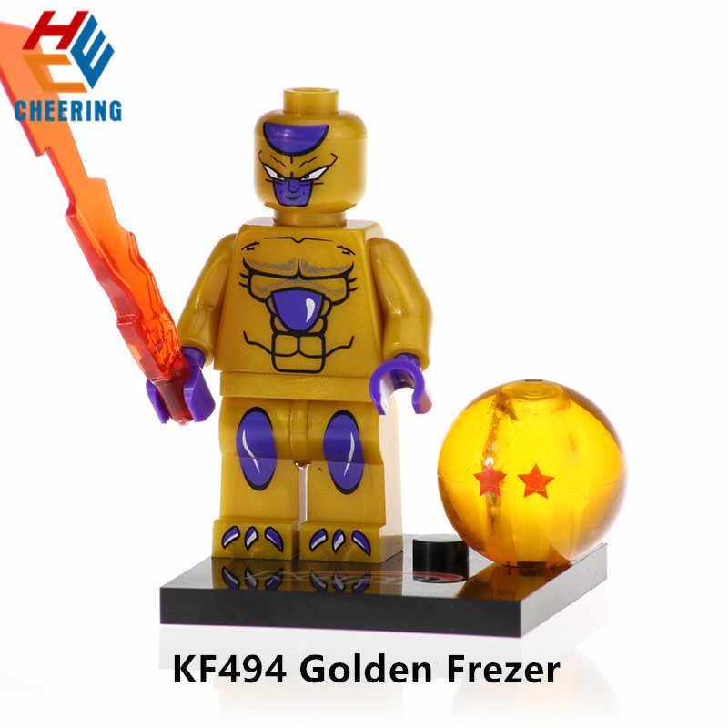 Única Venda Blocos de Construção Ball Z Vegeta Son Goku Kuririn Goku Preto Rosa Uub Figuras Bricks Brinquedos Modelo Para O Presente crianças KF530