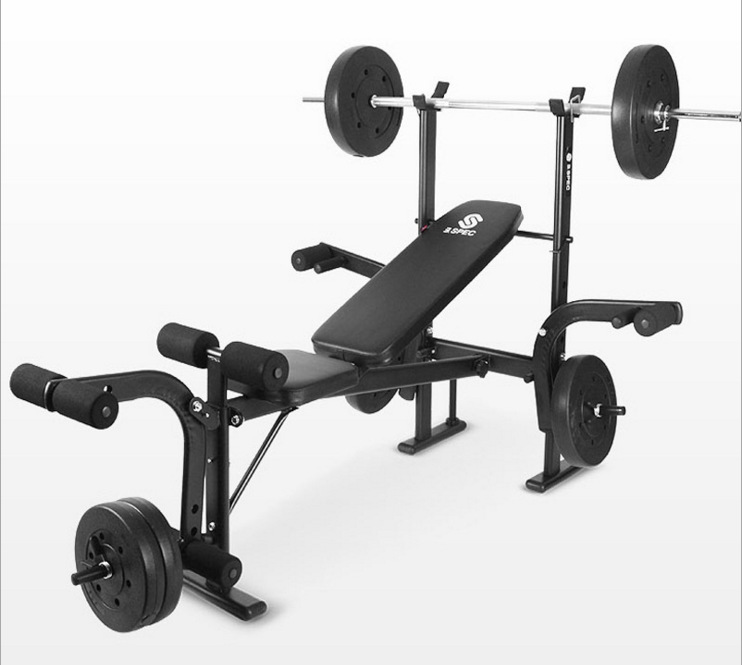 Indoor Multifunction Fitness Equipment Sit Up Bench Adjustable Crunch Board Barbell Rack Solid Steel Weightlifting Training