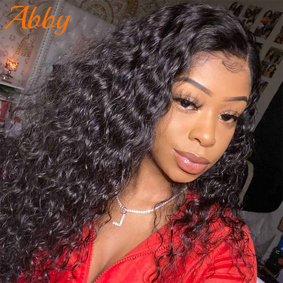 Abby 13x4 Lace Front Human Hair Water Wave Wigs Malaysian 13x6 Lace Frontal Wigs For Black Women PrePlucked Natural Hairline