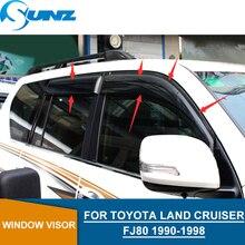 цена на Black Side window deflectors For Toyota Land Cruiser Prado Lc80 Fj80 1990 1991 1992 1993 1994 1995 1996 1997 1998 SUNZ