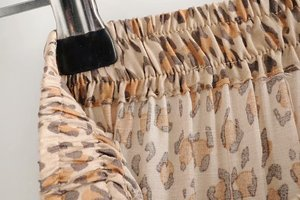 Image 5 - בציר שיק אופנה היפי נשים החוף בוהמי הדפס מנומר לקפל עיצוב חצאית גבוהה אלסטי אונליין Boho מקסי חצאית Femme