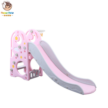 Baby slide with basketball box combination children indoor home kindergarten baby playground children multifunctional indoor toy