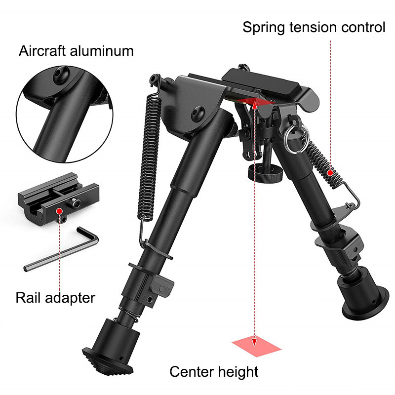 Adapter Camera-Support Spring-Return Outdoor-Accessory Adjustable Bi-Pod 6-9 With Butterfly