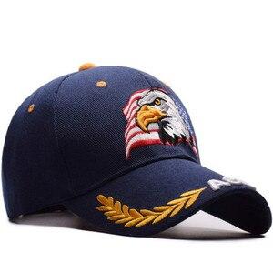 Image 5 - を 2019 新イーグル刺繍野球帽ファッションヒップホップの帽子アウトドアスポーツキャップ人格トレンドパパキャップ
