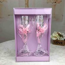 2019 new Acrylic cup wine cup wedding wedding to cup wedding props champagne plastic high-foot cup free delivery Eco-Friendly