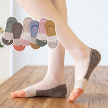 No-Show Socks Women Ankle Cotton Summer Cute Kawaii Spring 5-Piars/Pack Sweat-Absorbent