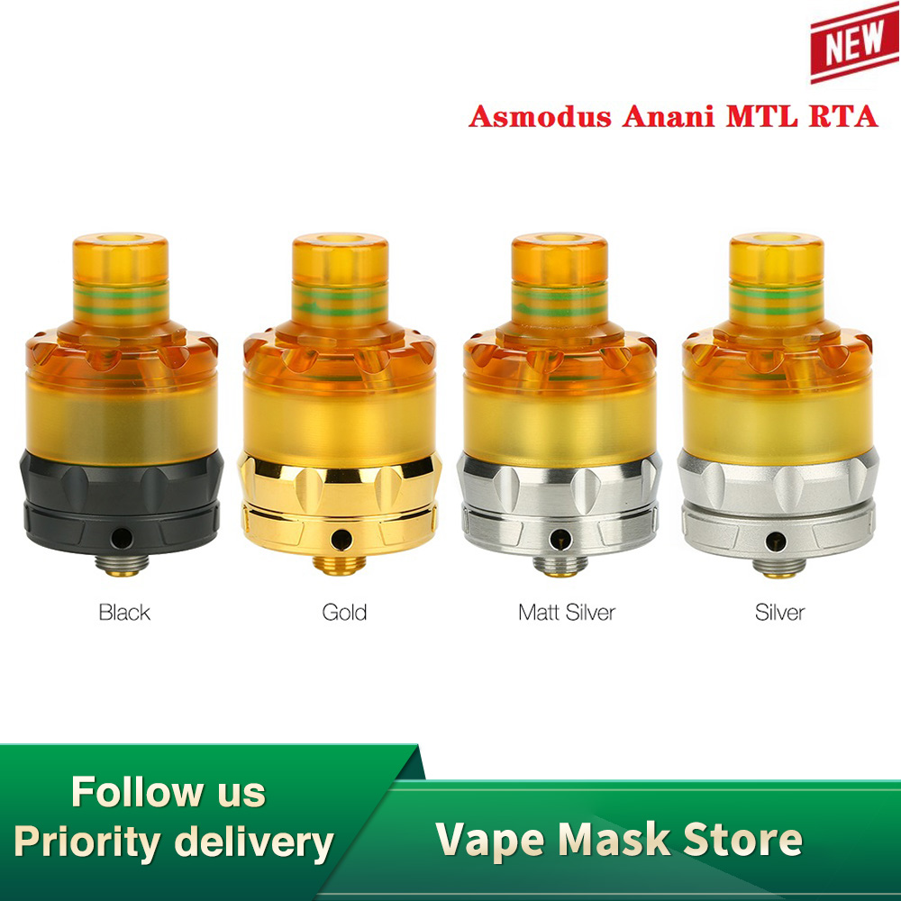 Heavengifts Asmodus Anani MTL RTA With 2 Posts For Easy Single Coil Building 22mm RTA Atomizer 510 Thread Vs Zeus X/ Dead Rabbit