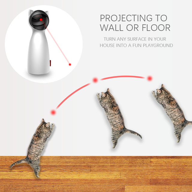 LED Laser for cats. An Electronic Pet. An interactive Smart toy 3
