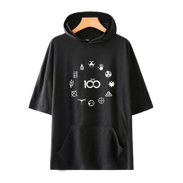 THE 100 THEMED SHORT SLEEVE HOODIE (25 VARIAN)
