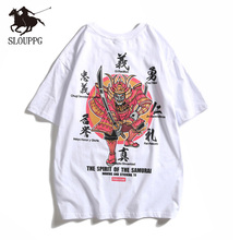 Chinese style printing Harajuku cotton men's T-Shirt Hip Hop Streetwear Fashion Casual Round neck tshirt men high quality 2019