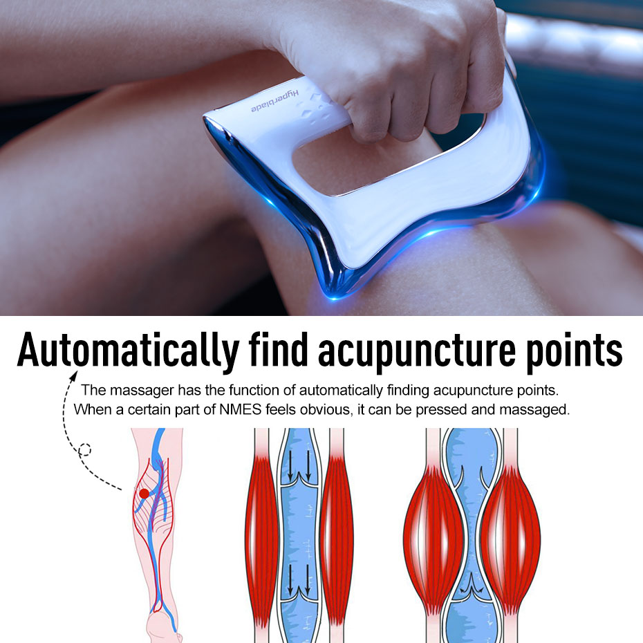 Electric Muscle Massager NMES Therapy Fascia Massage Gun Deep Vibration Muscle Relaxation Fitness Slimming Shaping Pain Relief 4