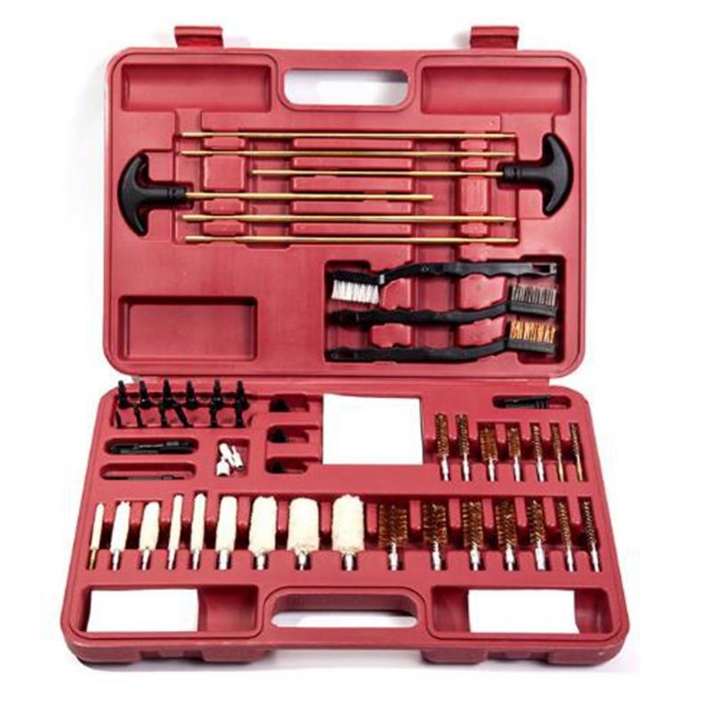 Caça universal kit de limpeza arma escova bronze para todos os 9mm .22/40/45/380 calibre armas