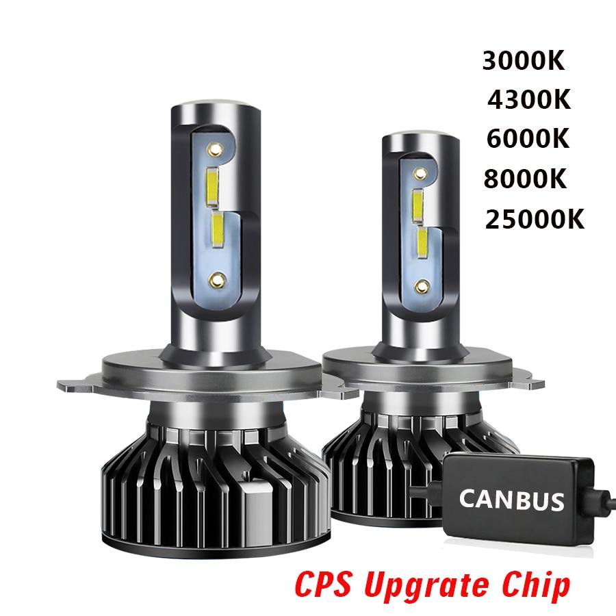 Светодиодный головной светильник 20000LM светодиоды с чипом CSP 3000 К 6000 H4 светодиодный H7 Canbus H1 H3 H8 H11 9005 HB3 9006 HB4 Автомобильные фары головного света...