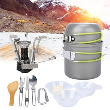 Portable Gas Cooker Cookware Camping Stove Outdoor Supplies Camping Picnic Set Combination Portable 1-2 People new sale outdoor portable stove cooker gas stove for camping picnic cookout bbq