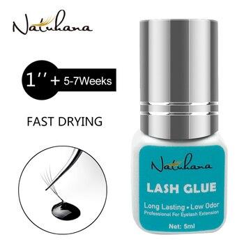 NATUHANA 5ml Eyelash Extension Glue 1 Seconds Fast Drying Eyelashes Glue Pro Black Lash Glue Makeup Tool Adhesive недорого