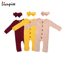 Newborn Solid Romper Infant Baby Girl Knitted Jumpsuit Soft